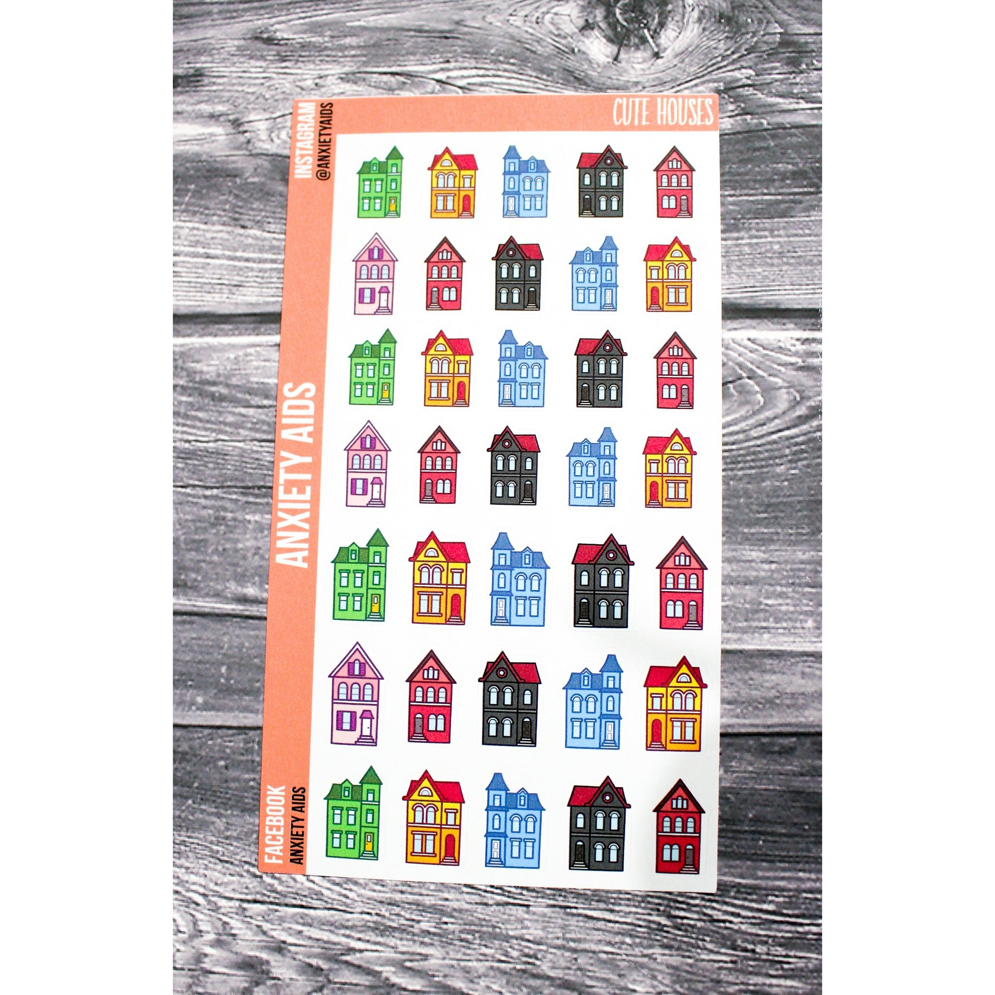 Cute Houses Stickers
