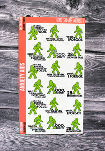 ADHD Swamp Monster Stickers
