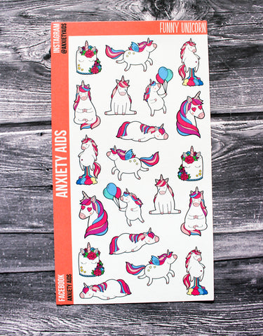 Funny Unicorn Stickers