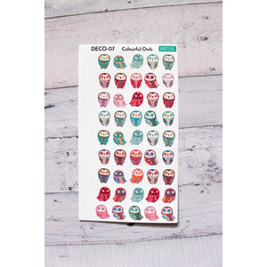 Colorful Little Owl Stickers