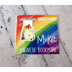 Mike the Unicorn Magnetic Bookmark