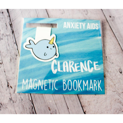 Clarence the Narwhal Magnetic Bookmark