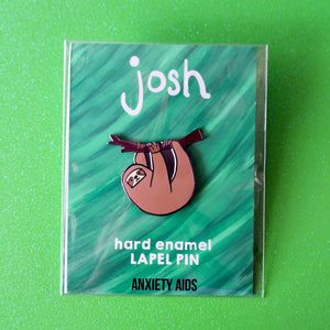 Josh the Sloth Hard Enamel Lapel Pin