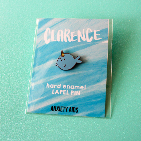 Clarence the Narwhal Hard Enamel Lapel Pin
