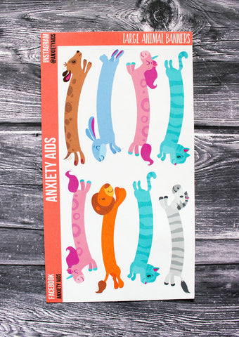 Large Animal Banners Stickers