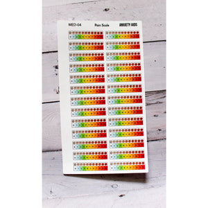 MED-05 pain scale Planner stickers  Anxiety Aids Anxiety Aids