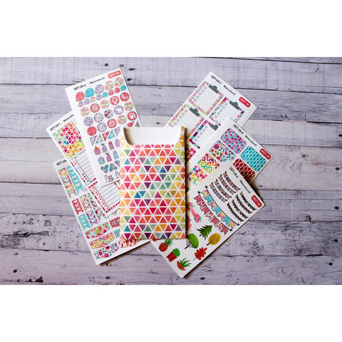 SET-08 Watercoloured Sticker Set with Pocket - Anxiety Aids - 1