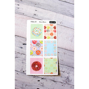 FULL-01 Donut Full Box Planner stickers - Anxiety Aids
