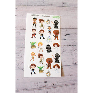 Deco-25 Starfighter movie Planner Stickers - Anxiety Aids