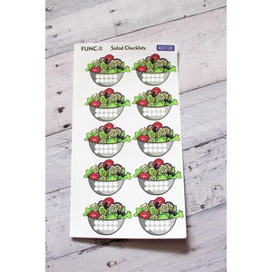 FUNC-11 Salad Checklist Planner stickers - Anxiety Aids