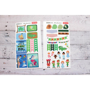 WEEK-14 Off to Neverland Weekly Decorating Kit planner stickers - Anxiety Aids