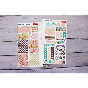 WEEK-01 Tea Time Weekly Planner decorating kit - Anxiety Aids