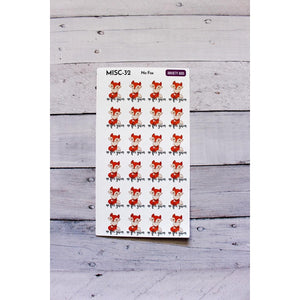 MISC-32 No Fox Given sassy Planner stickers  Anxiety Aids Anxiety Aids