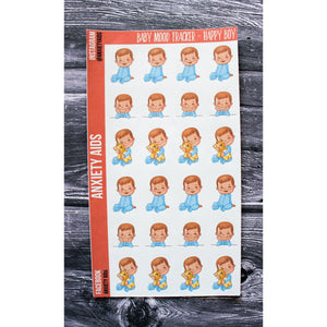 Happy Boy Baby Mood Tracker Planner Stickers
