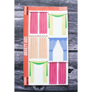 Curtains Planner Stickers