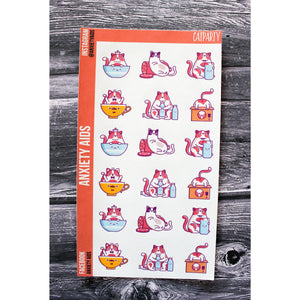 Cat Party Planner Stickers
