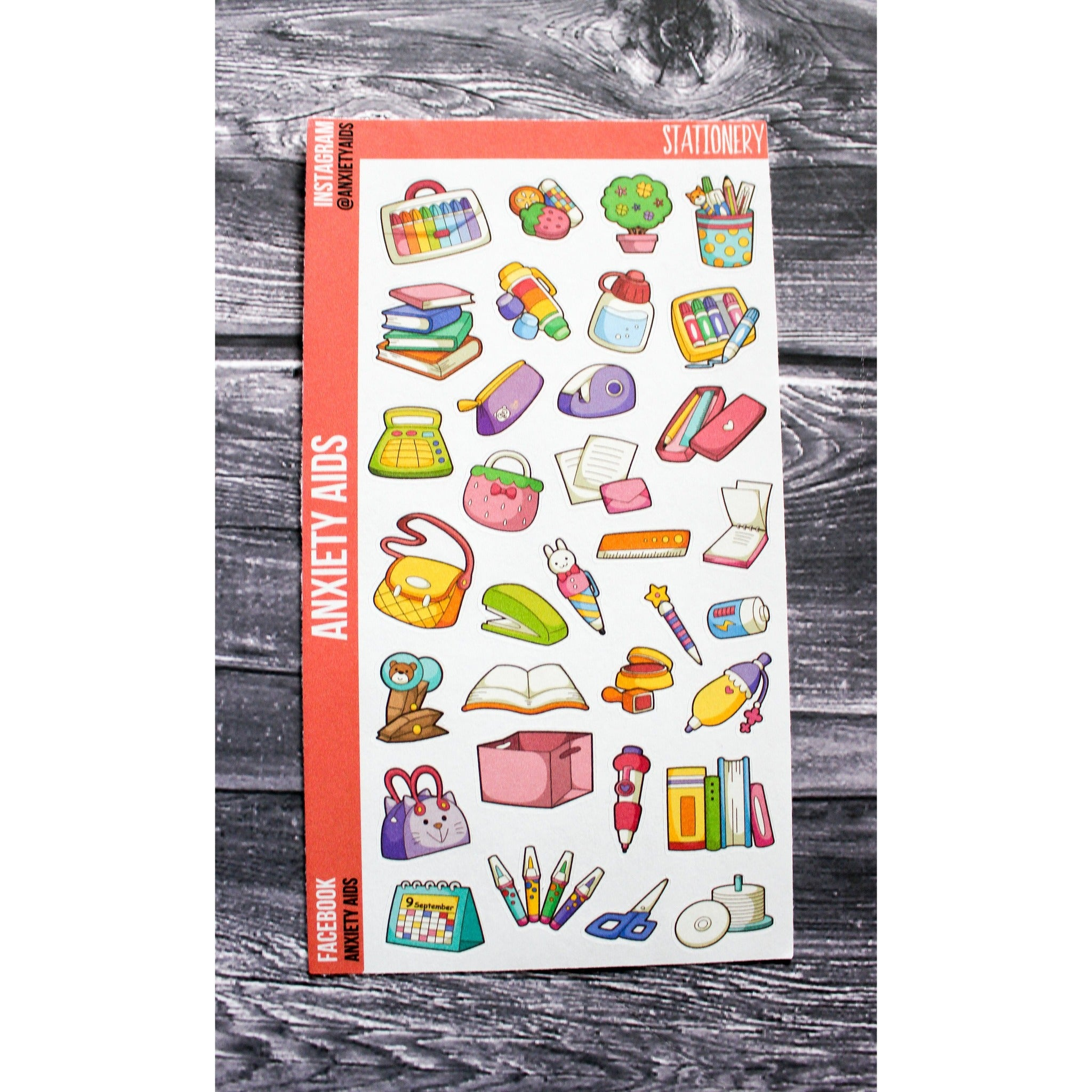 Cute Colorful Stationery Planner Stickers