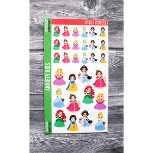 Winter Princesses Planner Stickers