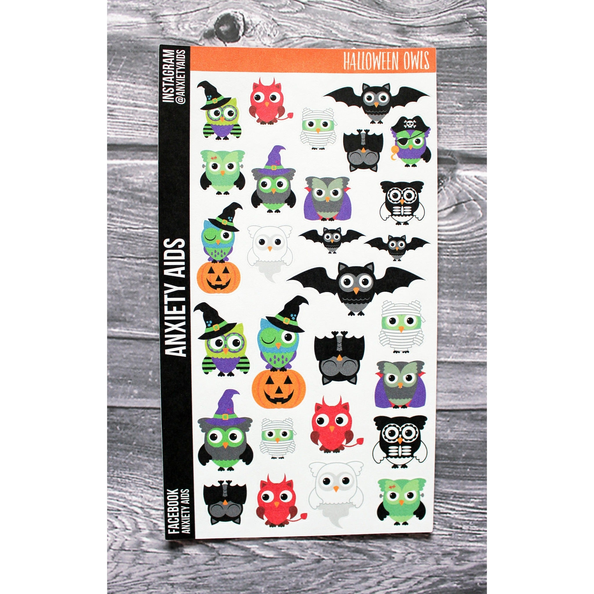 Halloween Owls Planner Stickers