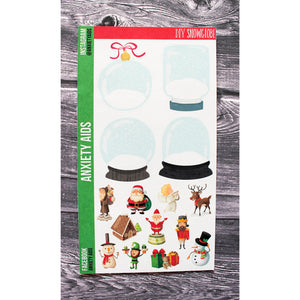 DIY Snow Globe Christmas Planner Stickers