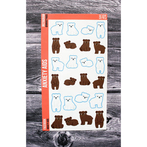 Bears Planner Stickers