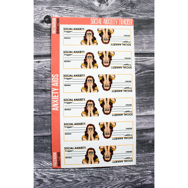 Social Anxiety Tracker Planner Stickers