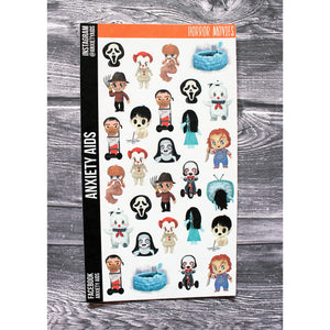 Horror Movie Bad Guys Planner Stickers