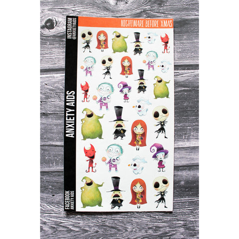 Nightmares Before Christmas Planner Stickers