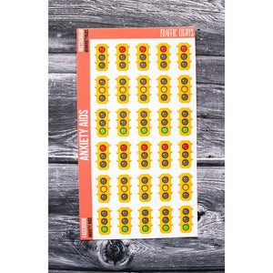 Traffic Lights Green Yellow Red Planner Stickers