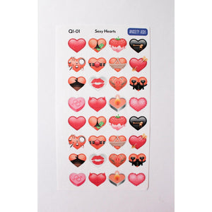Q1-1 Sexy Hearts Valentines Stickers  Anxiety Aids Anxiety Aids
