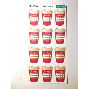 FUNC-10 Coffee Tracking planner stickers - Anxiety Aids