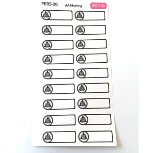 PERS-20 AA Meeting Labels Planner Stickers  Anxiety Aids Anxiety Aids