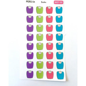 PERS-24 Scales weight tracker planner stickers  Anxiety Aids Anxiety Aids