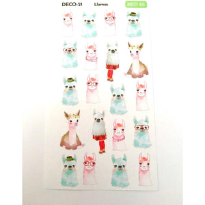 DECO-21 llama Planner stickers  Anxiety Aids Anxiety Aids