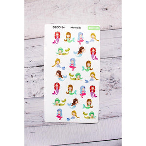 DECO-24 Mermaids Planner stickers  Anxiety Aids Anxiety Aids