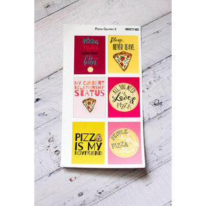 FULL-41 Pizza Quotes 2 Planner stickers - Anxiety Aids