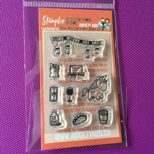 Stampler Mini Photopolymer Planner Stamp Set