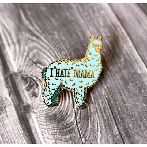 Drama Llama Hard Enamel Lapel Pin - Official Go Wild Merchandise