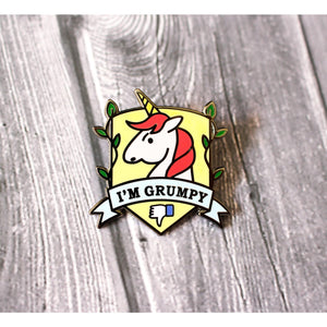 Grumpicorn Hard Enamel Lapel Pin