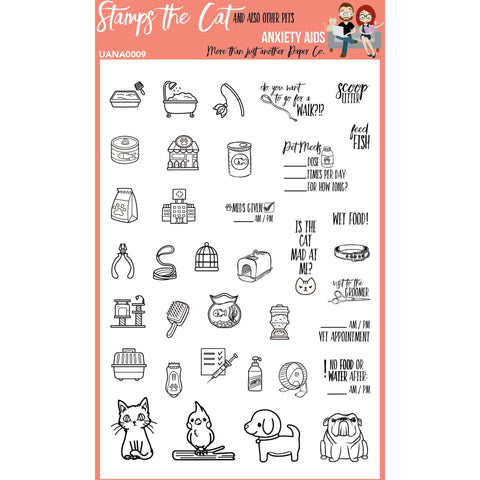 Stamps the Cat and other Pets Clear photopolymer Planner Stamp Set