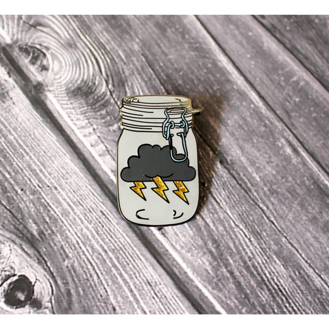 Storm Jar Hard Enamel Lapel Pin