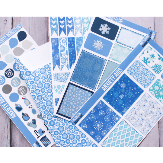 Winter Wonderland Sticker Set with Pocket