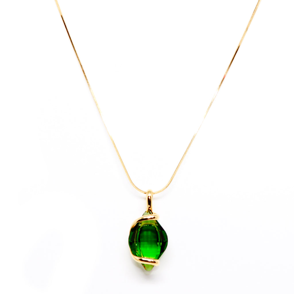 green x quartz products plated natural gold g necklace collective