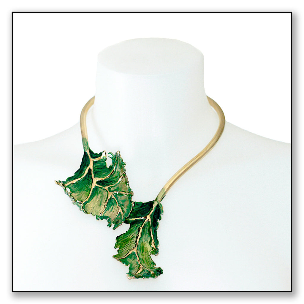 mini necklace olive products leaves vermeil five shop