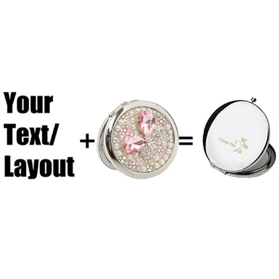 Finest Customized Compact Mirrors, DIY Mirrors, Personalized Mirror  MB03