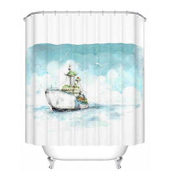 ... Water Proof Shower Curtain Liners/Bathroom Shower Curtains/Trendy Shower  Liners/Bathroom Decoration ...