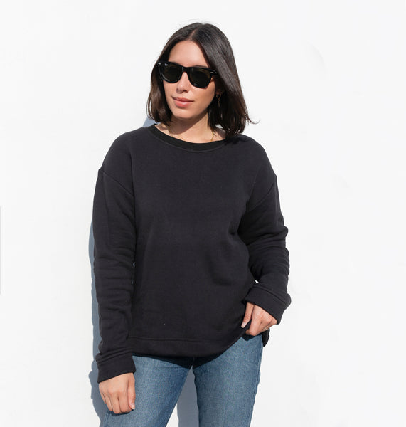 premium basic sweatshirt black