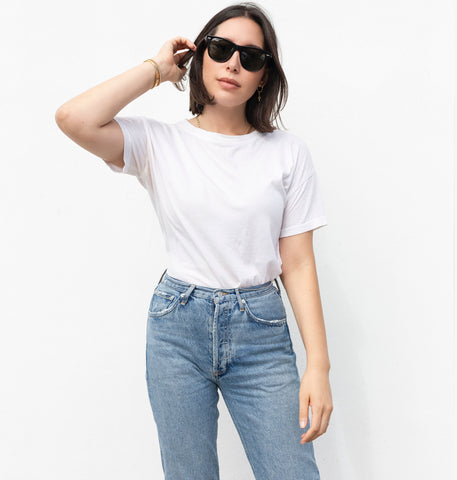 premium basic tee off white