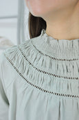 Shirring Collar Blouse
