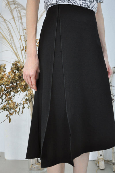 Side Slit Panel Skirt